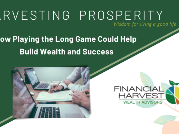 How playing the long game could help build wealth and success - harvesting prosperity january 2020