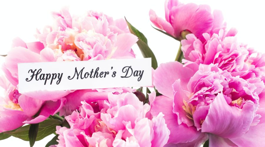 Happy Mother's Day, Greeting Card, with Pink Peonies