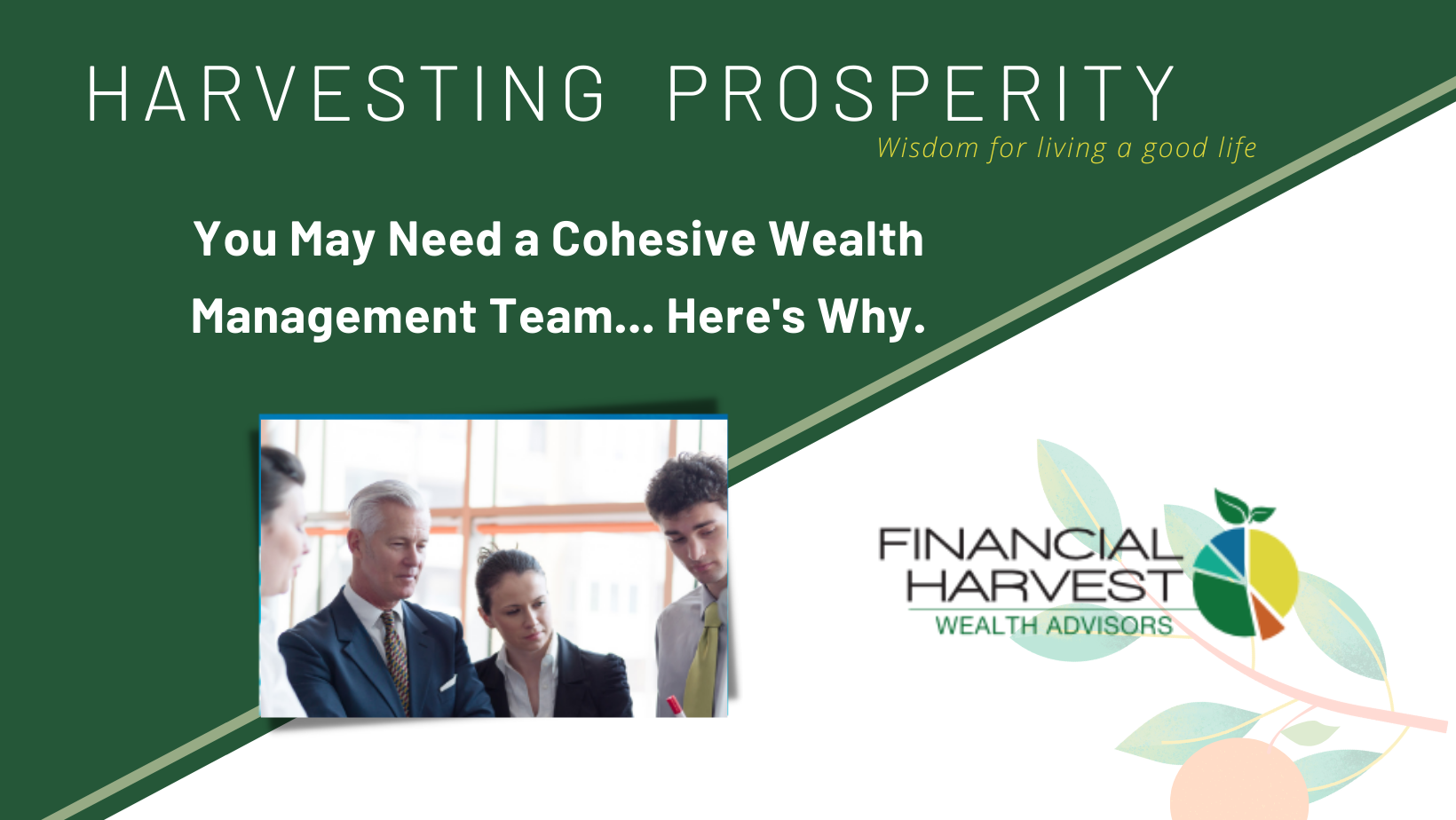 You may need a cohesive wealth management team... Here's why.
