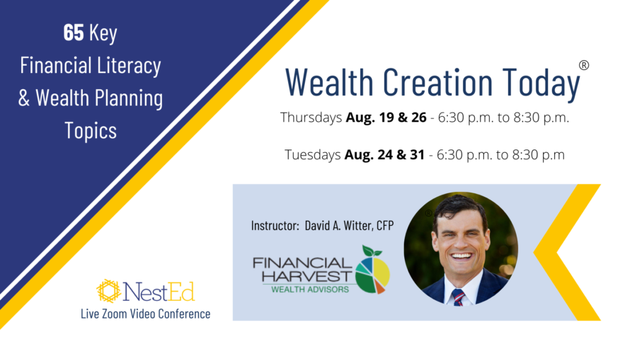 Personal finance course for ages 35-50 - august 2021 live events