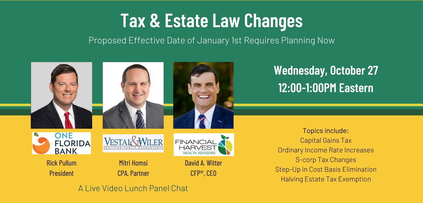 Tax and estate law changes